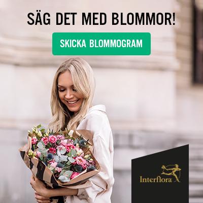 skicka blommor med interflora